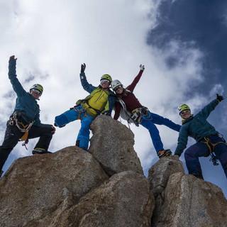 Aufstellung am Gipfel, Foto: Dörte Pietron