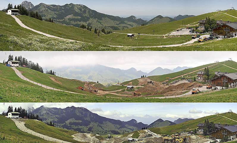 Eine Landschaft im Wandel - Bau des Speichersees an der Walleralm (Foto: Gesellschaft für ökologische Forschung, GöF)