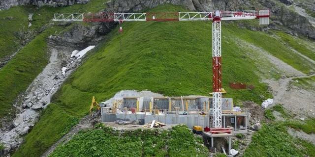 Baustelle des Waltenberger-Hauses (Foto: DAV-Sektion Allgäu-Immenstadt)