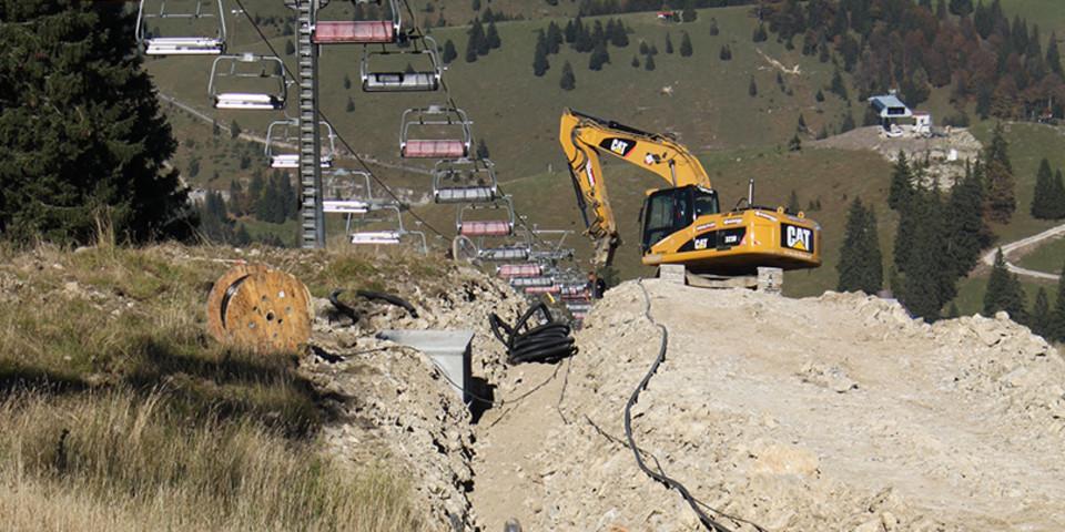 Bauarbeiten - Kabelverlegung am Sudelfeld (Foto: DAV - S. Reich)