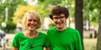Die neue paritätische Doppelspitze der JDAV - Hanna Glaeser und Simon Keller, Foto: JDAV/Silvan Metz