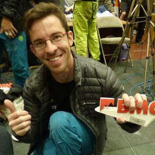 Nils Helsper freut sich über Platz 2 in der Klasse RP-1