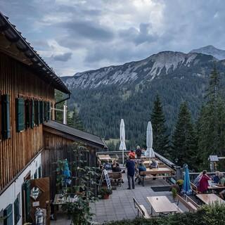Die Gufferthütte ist das erste Quartier am Weg, Foto: Axel Klemmer