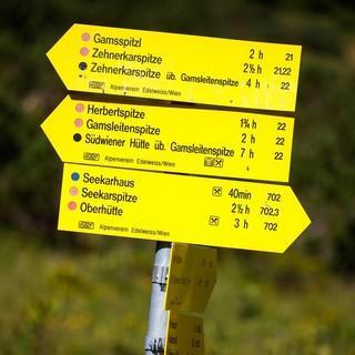 Die farblichen Markierungen helfen, die Schwierigkeit einer Tour einzuschätzen. Foto: DAV/Marco Kost
