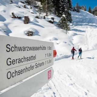 Auf dem Weg zur Schwarzwasserhütte, Foto: DAV/Daniel Hug