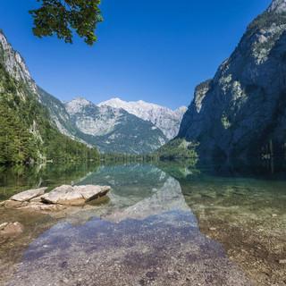 Blick vom Obersee auf die Watzmann-Ostwand, Foto: franzguentner.de
