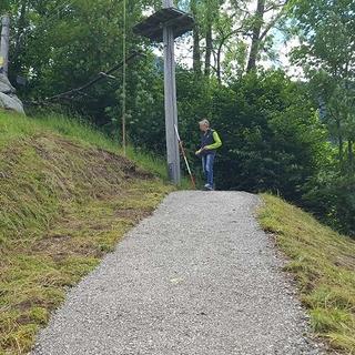 Anfahrt für neue MTB-Strecke, 18.06.2020; Foto: Jubi/Nico Löder
