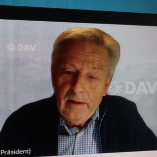 DAV Präsident Josef Klenner aus dem Homeoffice, Foto: DAV