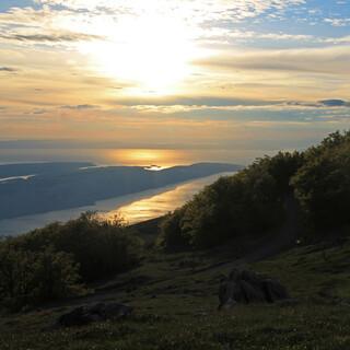 Sonnenuntergang über der Insel Rab. Foto: Silvia Schmid