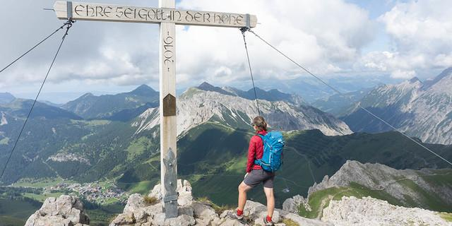Augstenberg (2359 m) auf dem Fürstin-Gina-Weg. Foto: Ute Watzl