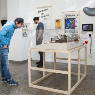 Besucher im Alpinen Museum. Bild: Bettina Warnecke, 2019.