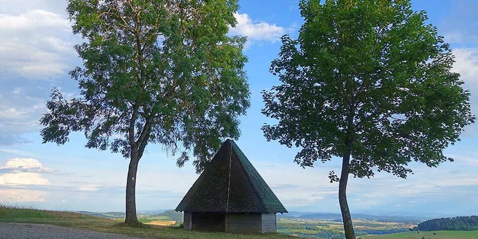 Spitzhütte im Hegau am Bodensee. Foto: Klaus Gräbe