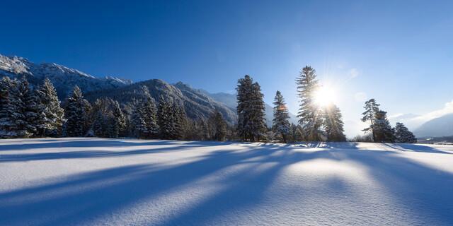 Winterlandschaft bei Eschenlohe, Foto: Wolfgang Ehn