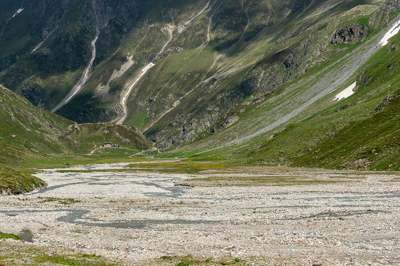 Wasserreiche Fläche vor der Amberger Hütte. Foto: Tobias Hipp