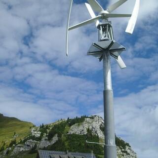 Das Windrad am Rotwandhaus, Foto: Wolfgang Auer