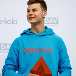 Linus Bader holte sich den dritten Platz bei der Deutschen Meisterschaft Olympic Combined 2019. Foto: DAV/Marco Kost