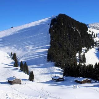 Auch der mittlerweile stark zerfahrene Rauhkopf (Mangfallgebirge) dürfte am Samstag Neuschnee abbekommen. Foto: M. Pröttel