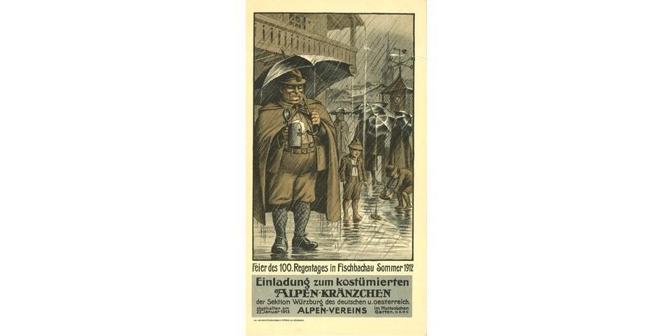 Einladung zum costümierten Alpenkränzchen der Sektion Würzburg, 1913. Archiv des DAV, München