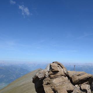Gleiwitzer Höhenweg - Der Gleiwitzer Höhenweg ist luftig und mit einigen Drahtseilen gesichert.
