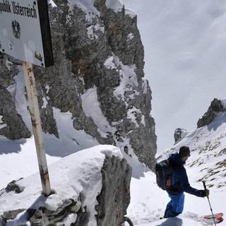 Abfahrt vom Gatterl - Bei guter Schneelage kann man direkt vom Gatterl abfahren. Foto. Stefan Herbke