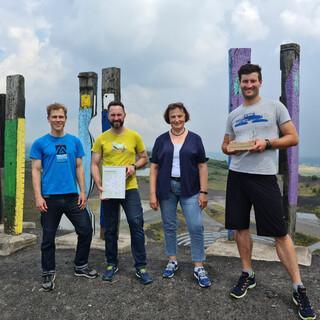 Von links nach rechts: Martin Brückner, David Colling, Burgi Beste, Charly Langbein. Foto: DAV