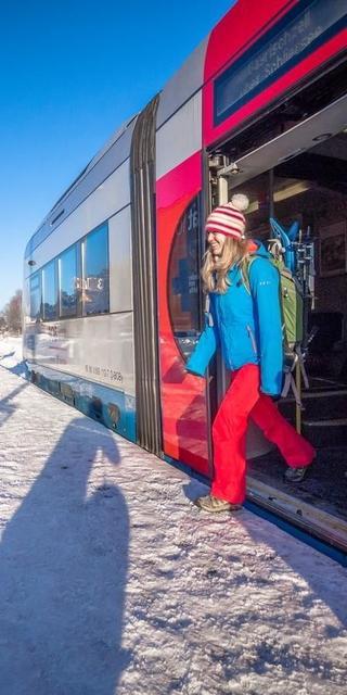 Bahnwandern im Winter. Foto: DAV/Silvan Metz