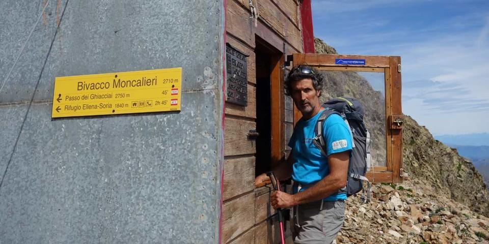 Die Biwakschachtel Moncalieri (2710 m) ist in ordentlichem Zustand. Foto: Joachim Chwaszcza