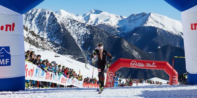 Toni Palzer beim Zieleinlauf in Andorra. Foto: DAV/Willi Seebacher