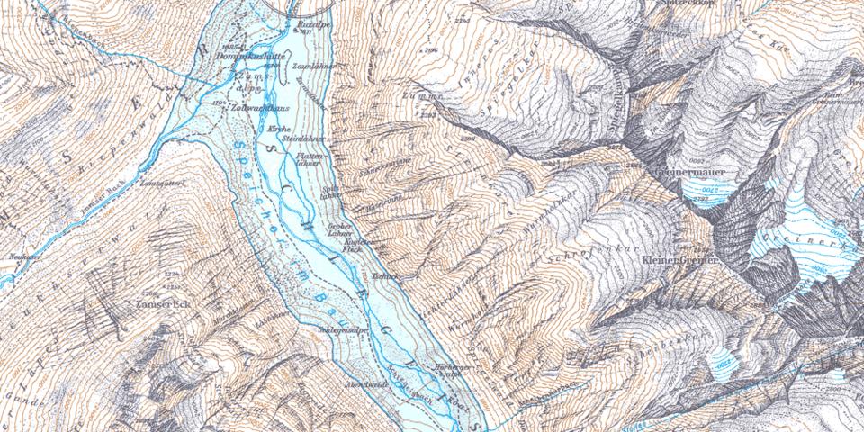 Kartenausschnitt 1958