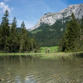 Der Hintersee im Bergsteigerdorf Ramsau b. Berchtesgaden, Foto: DAV/Tobias Hipp