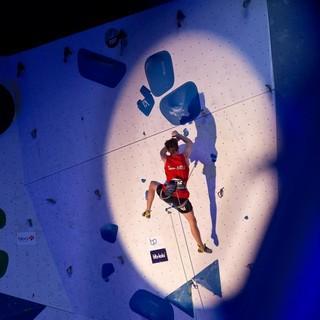 Jonas Brandenburger in der Halbfinalroute. Foto: DAV/Vertical Axis