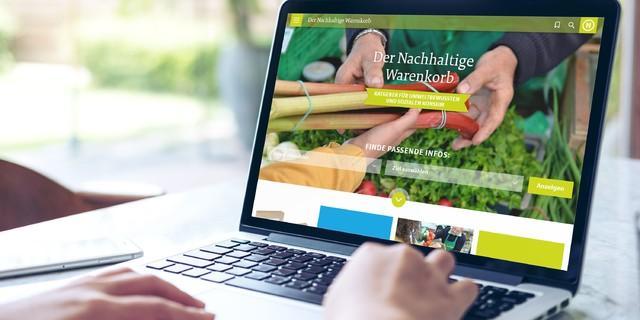 Online-Tipps zum nachhaltigeren Leben, Foto: Rat für Nachhaltige Entwicklung/www.nachhaltiger-warenkorb.de