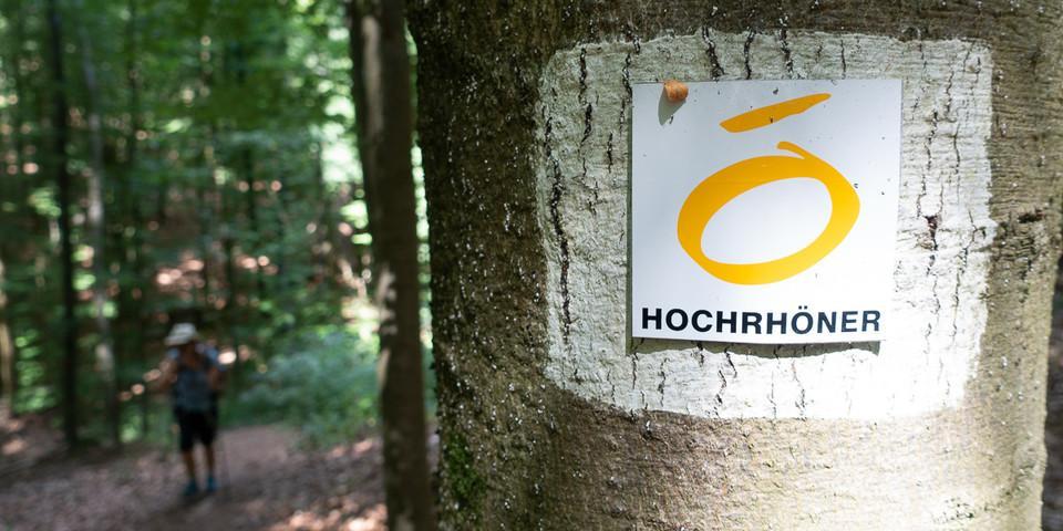 Der Hochrhöner-Fernwanderweg wird vom Rhönclub zuverlässig gewartet. Foto: Christof Herrmann