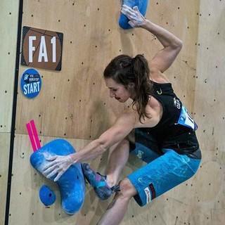 Juliane Wurm in Toronto 2015, Foto: thecircuitclimbing.com
