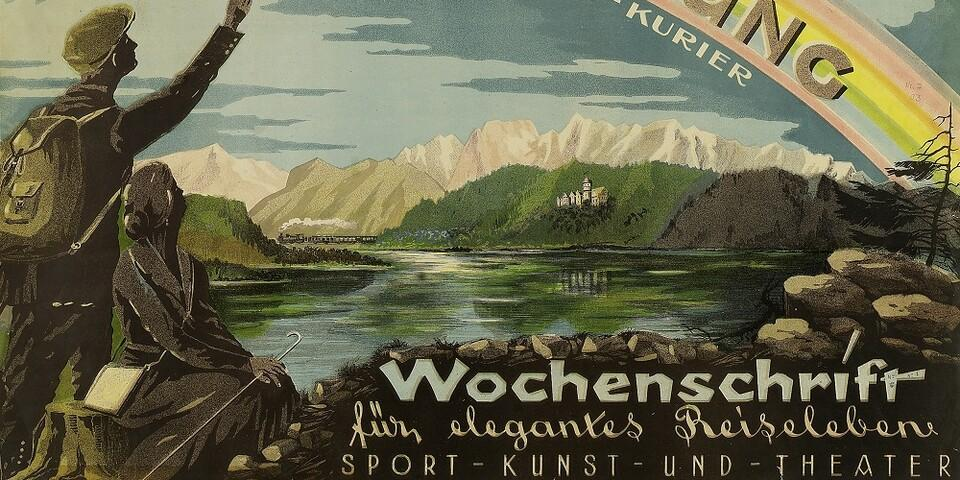 Werbeplakat für die Illustrierte Fremdenzeitung, 1903. Archiv des DAV, München