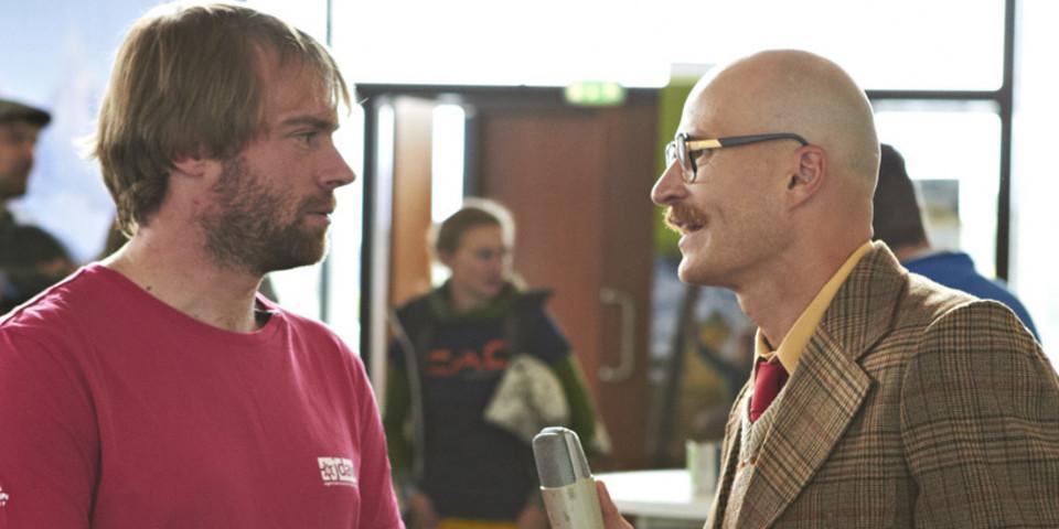 Interview von Mimi im Rahmen des JDAV Telekolleg. Foto: JDAV/Ben Spengler