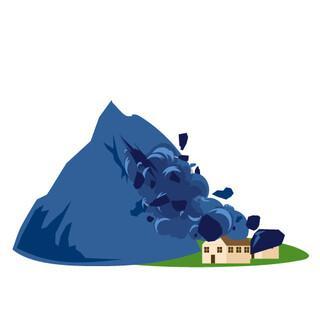Bergstürze als Gefahrenquelle - Grafik: Marmota Maps