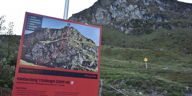 Der Klettersteig zum Tristkogel ist eine spaßige, aber anstrengende Zugabe zur dritten Etappe. Foto: Andi Dick