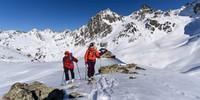 Aufstieg bei der Darmstädter Hütte. Im Hintergrund die Fatlarspitze, Foto: Wolfgang Ehn