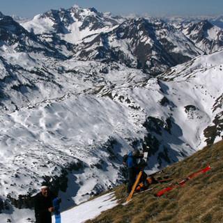 Geißhorn - Saison mit Bonus: Am Geißhorn kann man bis in den Spätwinter Tourenvergnügen finden.