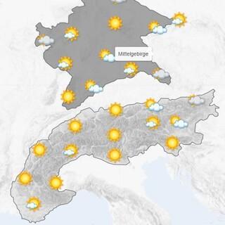 Das Bergwetter am 15.10.21