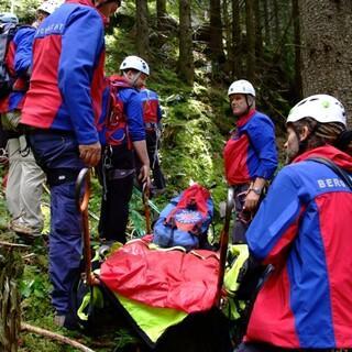 Bergwacht im Einsatz. Foto: Bergwacht Bayern
