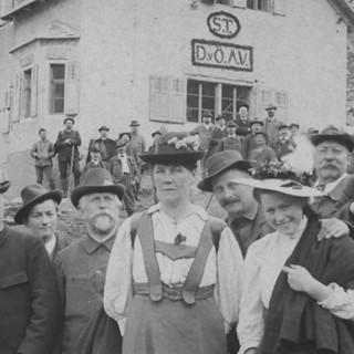Einweihung der Tübinger Hütte, 1908. Archiv des DAV, München