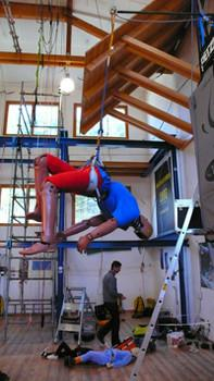 Test zu Klettersteigstürzen im Fallturm