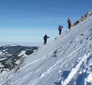 Gipfeldemo 2010 für die Bewahrung des Riedberger Horn (Archiv Mountain Wilderness)