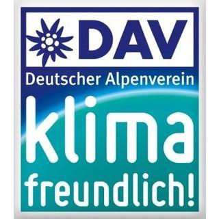 Projektlogo DAV klimafreundlich