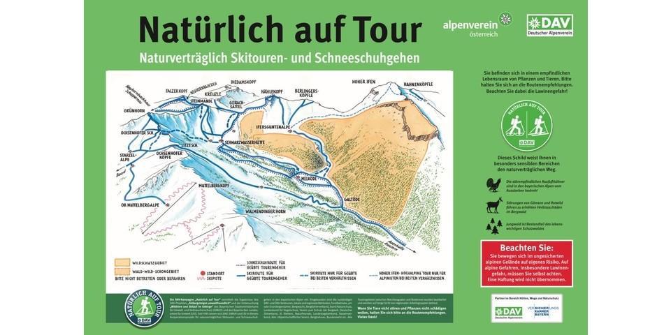 Tourengebiet Schwarzwasserhütte