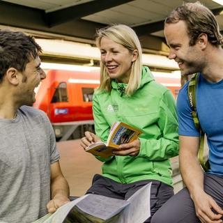 Entspannt anreisen mit der Bahn, Foto: DAV/Hans Herbig