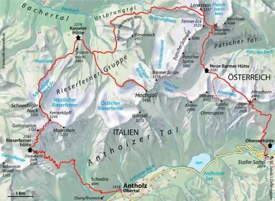 Rieserferner-Karte