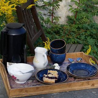 Nach einem langen Wandertag kann man den Kaffee und Kuchen in Meslo Gård richtig genießen… Foto: Joachim Chwaszcza